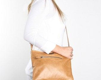 Leather Mini Messenger Bag - various colours