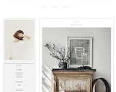 "WINTER EDITION premade blog template, blogger ""Frozen Grey"" - two columns, free installation!"