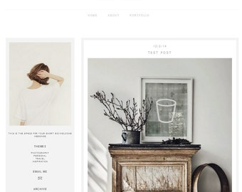 Winter Edition Premade Blog Template Blogger Ah By