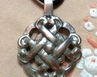 Sterling Celtic Strength Pendant Necklace