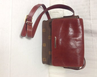 Texier purse,bag, Made in France, PVC ,Brown Leather, Shoulder Bag