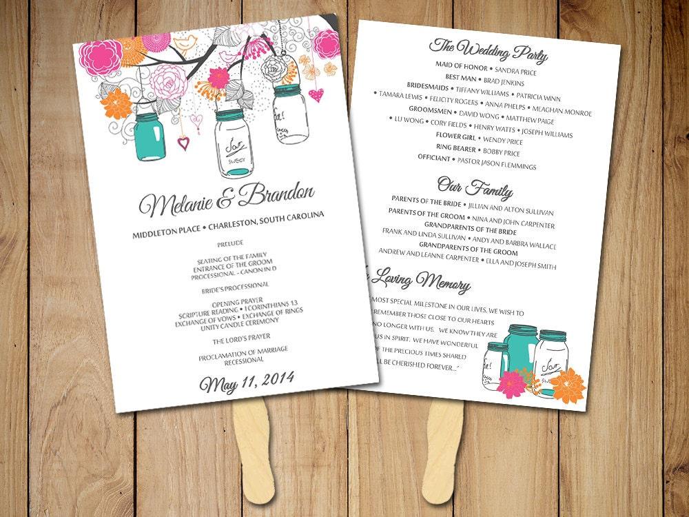 wedding fan template fan program template diy wedding. Black Bedroom Furniture Sets. Home Design Ideas