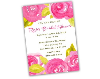 Watercolor Invitation - Printable CUSTOMIZED Watercolor Invitation & Graphic Design