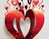 Papercutting Template 3D Valentines Card, 8"