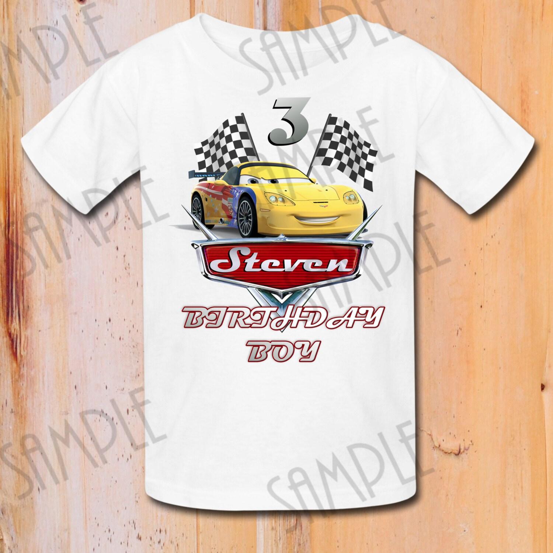 T shirt disney cars diy custom iron on transfer printable for Diy custom t shirts