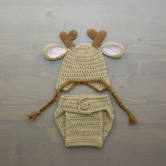 Crochet Deer Costume Crochet Deer Set Diaper Cover by ...