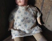 Vintage Ideal Doll 1930s Cloth Composition Creepy Shifty Eyes Weird 18 inch Dolls Old Baby Dolls Collectable Toys Oddities Halloween Prop