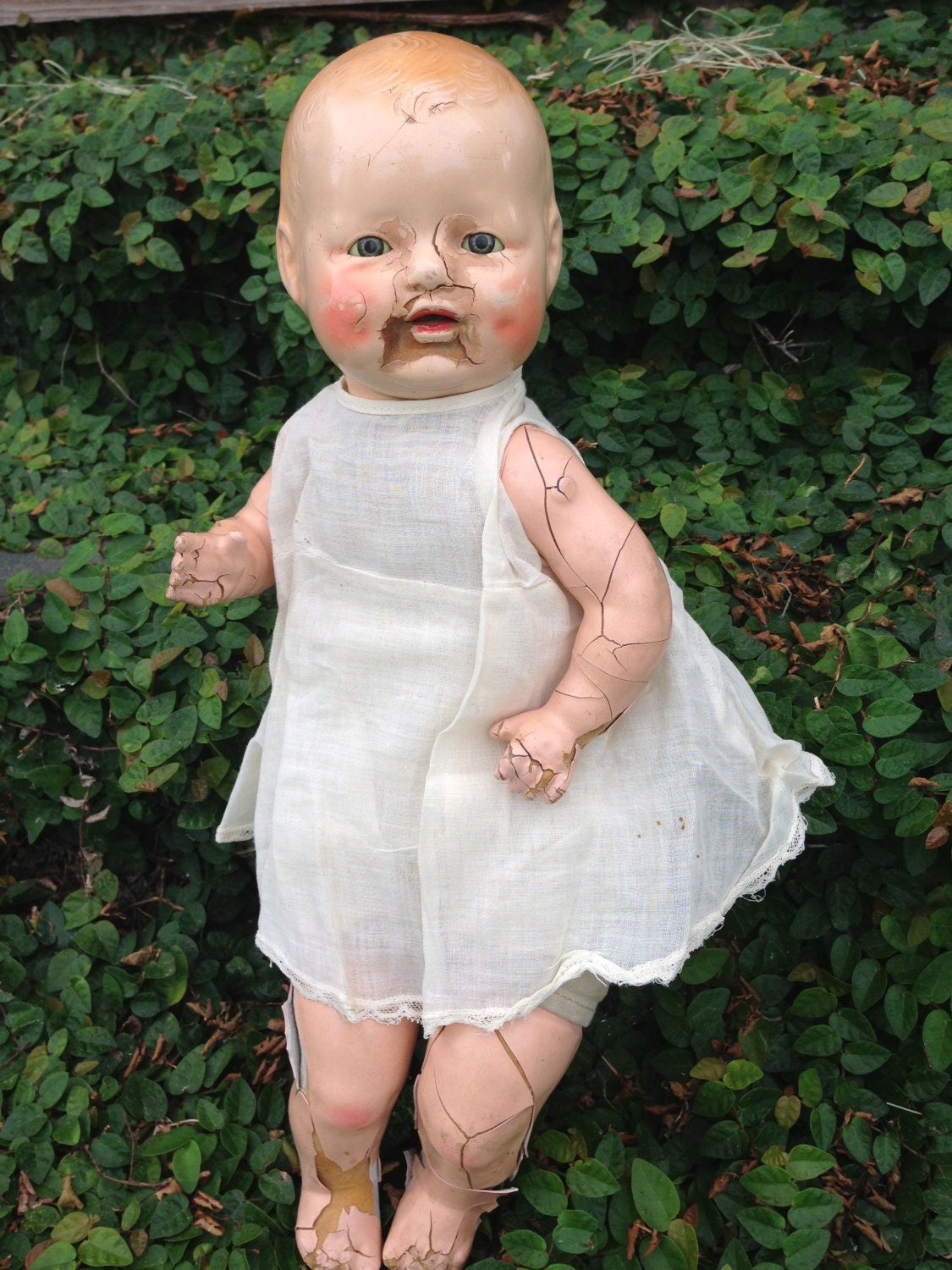 Vintage Horsman Baby Dimples Doll 1920s Composition Cloth Doll