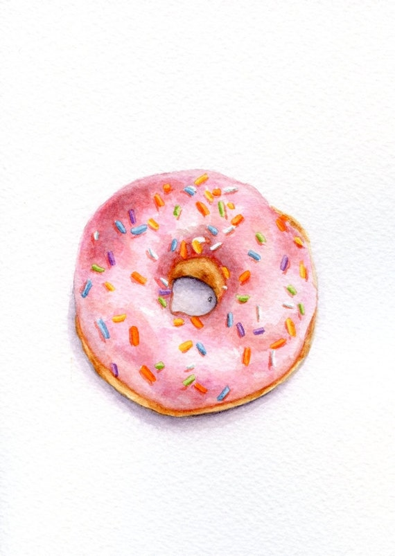 how to draw 3d donut