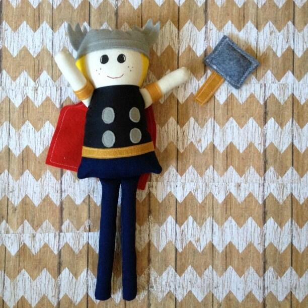"Thor 19"" Fabric Doll Marvel Avengers"