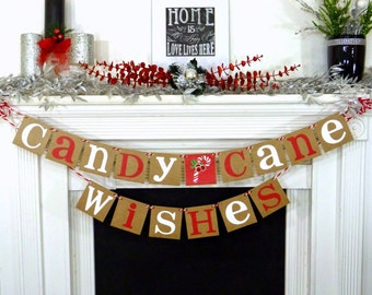 Rustic Christmas banner Welcome Santa Christmas garland Merry Christmas banners decoration garland christmas garland Be Merry photo prop