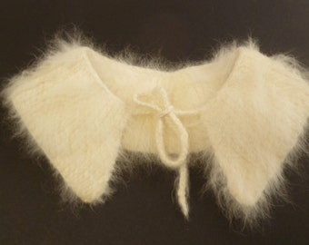 "Vintage Angora Rabbit Fur Doll Collar 12 "" Neck Opening"