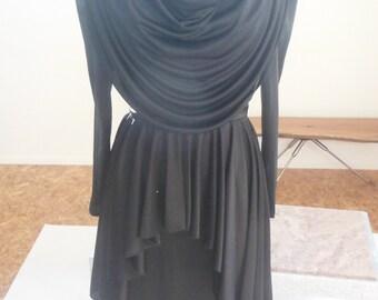 Retro 80's, Mid-Lenth, Black Dress, Size 6