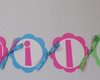 Cupcake Birthday Party - Name Banner