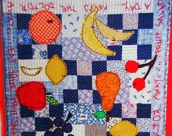 Fruit Salad By Pamela Mostek And Making Lemonade Designs Applique Wall Hanging Quilt Pattern Packet Undated