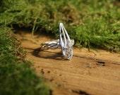 Silver ring. Handmade Celtic ring. Sterling silver. Elvish Ring.  Rustic silver jewellery. Celtic ring.