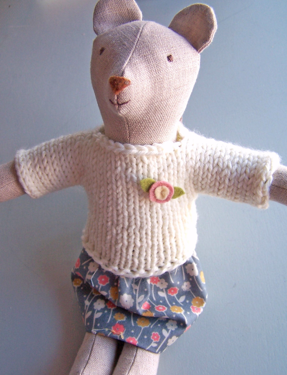 Knit Sweater and Skirt PDF knitting and sewing pattern simple