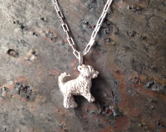 Travis Goldendoodle - Labradoodle Charm / Pendant in Sterling Silver - Part of the Clyde Fundraiser Collection