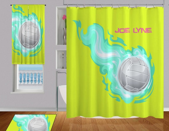 Items Similar To Volleyball Shower Curtain, Cool Shower