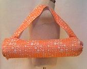 Yoga mat bag, retro print, yoga carrier, yoga tote, gift idea, yoga accessory Eugene, Oregon, excercise bag, hot yoga