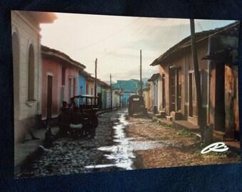 """Photo: Trinidad, Cuba (18"""" x 12"""" print) (front signature)"""