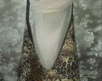 V Hobo Bag - Leopard  Print