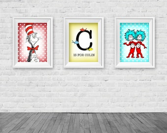 Dr. Seuss Inspired Wall Art