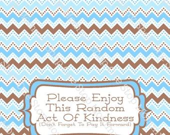 Random Acts Of Kindness Printable Bag Topper