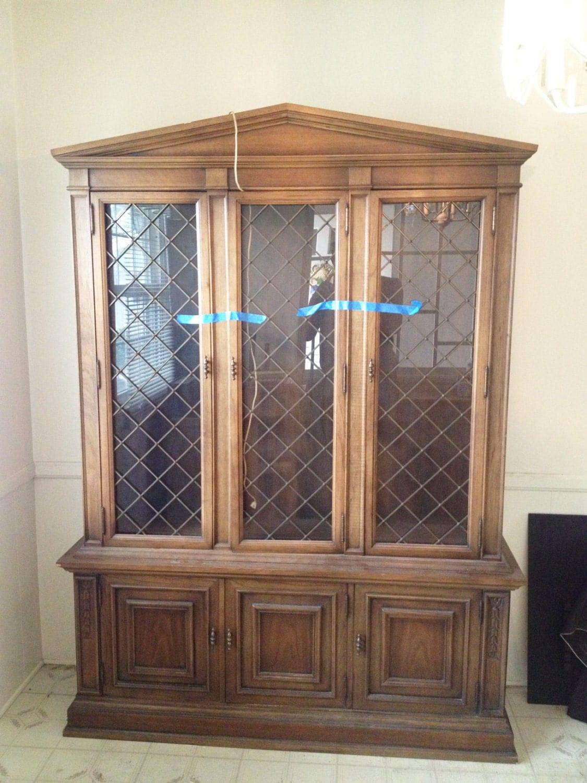 drexel heritage china cabinet antique china by. Black Bedroom Furniture Sets. Home Design Ideas