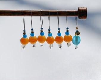 Stitch Markers - Blue and Orange **SALE ITEM**