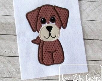Dog 55 Applique embroidery Design - dog Appliqué Design - puppy Applique Design
