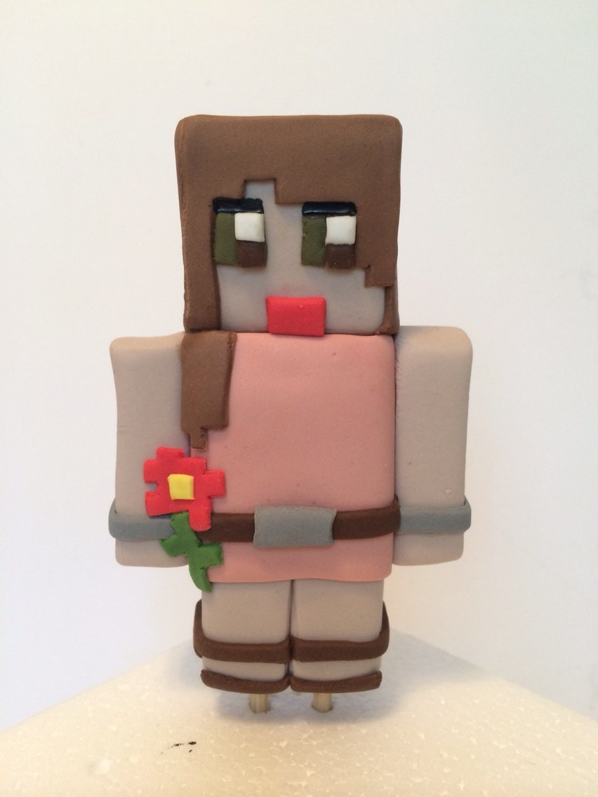 how to make minecraft cake toppers