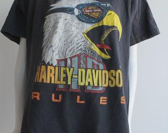 90's Vintage Harley Eagle Shirt