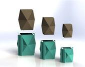 Geometric Vase Mold Set - Reusable Molds - Sizes S-L - Now available in 3 sizes!! Concrete Mold, Geometric Planter