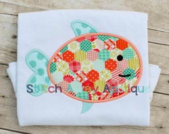 Simple Fish Machine Applique Design