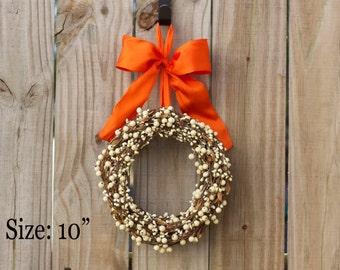 Year Round Wreath - Cream Berry Wreath - Spring Wreath - Shabby Chic Wreath - Year Round Door Decor - Everyday Wreath - Valentine Wreath