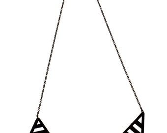 Rambla Necklace - Hand sawed geometric necklace