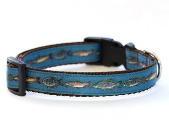 Trout Pattern Dog Collar
