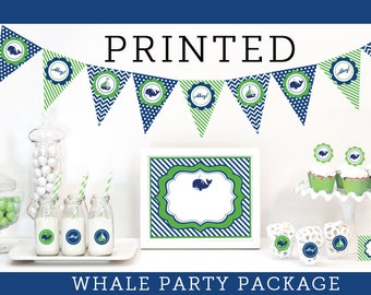 Whale Party Decorations - Whale Party Theme - Whale Themed Birthday Blue and Green Birthday Party Whale Theme Baby Shower Ideas (EB4000WHBY)