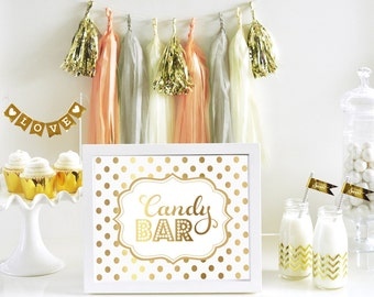 Candy Bar Sign - Wedding Candy Bar Sign - Wedding Candy Buffet Sign - Dessert Table Sign Candy Sign Dessert SIGN ONLY (EB3058FW)