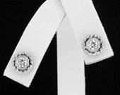 14K Screwback Diamond Earrings