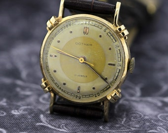 Gotham 14K Gold Wrist Watch