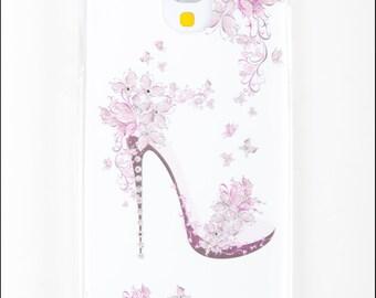 Samsung Galaxy S6 case - Diamond Pink Shoe Samsung S6 Case - Hard Back Case