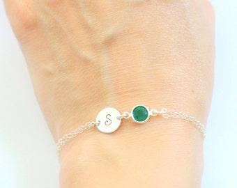Birthstone bracelet, December birthstone, Personalized bracelet, Personalized birthstone bracelet, Bridesmaid bracelet