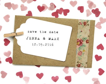Heart Tissue Paper Confetti Envelope - Save the Date, Wedding Favour, Ceremony Confetti, Place Cards, Will you be my Bridesmaid?