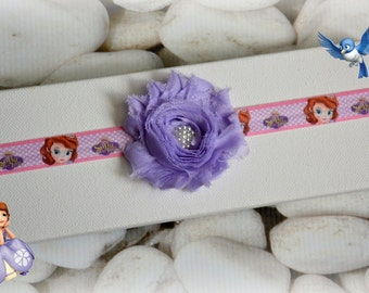 Sofia the First Inspired Headband Flower Pearl Infant Baby Newborn Toddler Girl Gift Princess