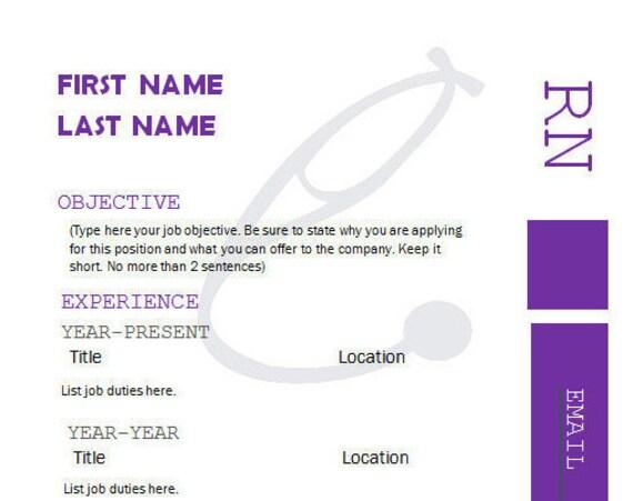 healthcare medical professional modern resume template cover letter design nurse doctor nursing assistant