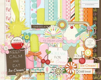 Ice Cream Lover - Digital Scrapbook kit