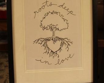 """Roots Deep - Original Libbydoodle design - 8x10"""" PRINT"""
