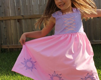 Disney Tangled inspired Rapunzel Dress